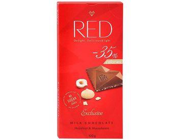 Шоколад RED без сахара молочный с орехом