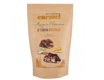 Конфеты Карамелизированный миндаль в темном шоколаде 120 г.