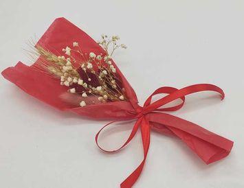 Декор из сухоцветов для украшения подарков в коробке/ корзине/ букете
