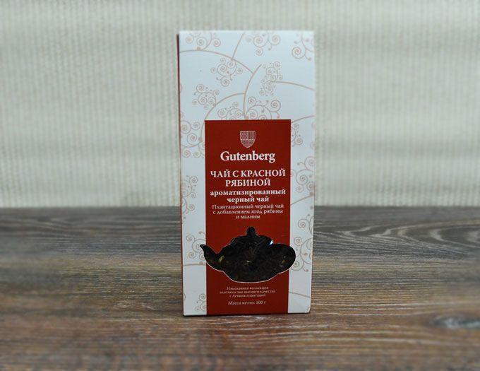 Черный чай с красной рябиной 100г