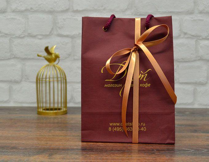 """Подарочный набор Чай и рахат-лукум в пакете """"Дуэт"""""""