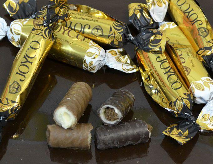 Вафельные трубочки в шоколаде JOYCO вес