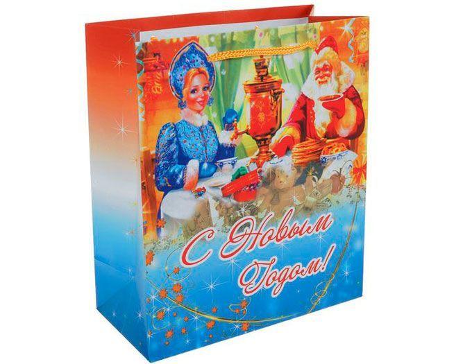 Подарочный набор с чаем и кружкой Новогодний в пакете