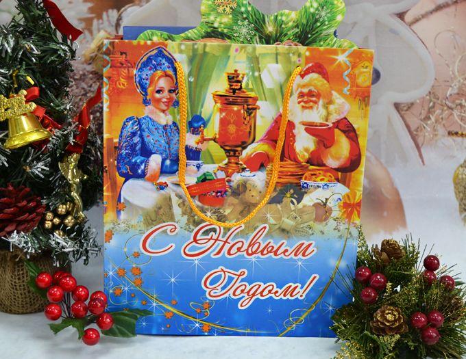 Набор из чая, кофе и марципана - подарочный набор новогодний