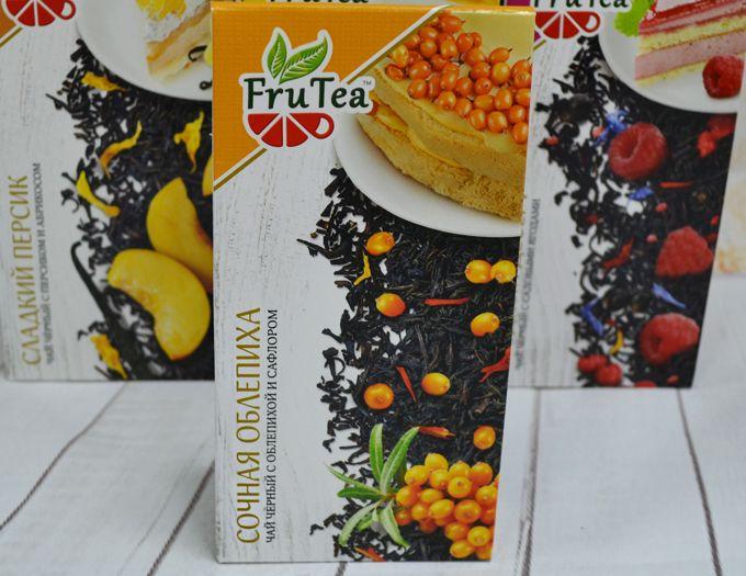 Чай черный FruTea c облепихой 50 г.