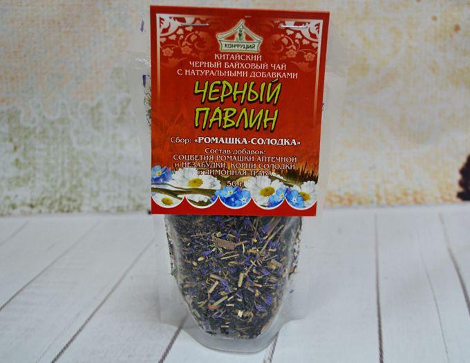 Чай черный ромашка-солодка 50 г.
