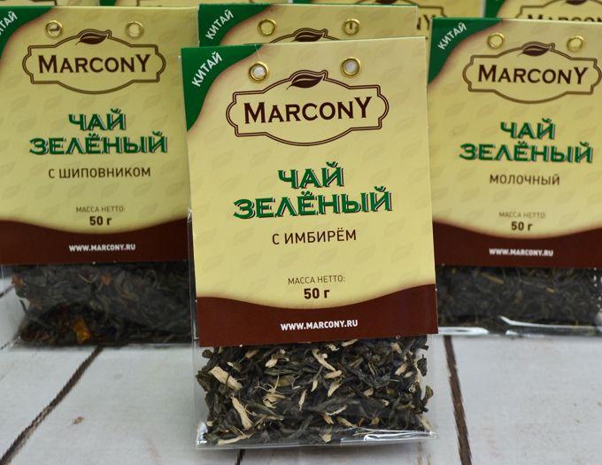 Чай зелёный с имбирем 50 г.