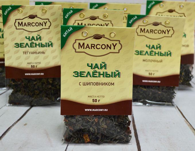 Чай зелёный с шиповником 50 г.