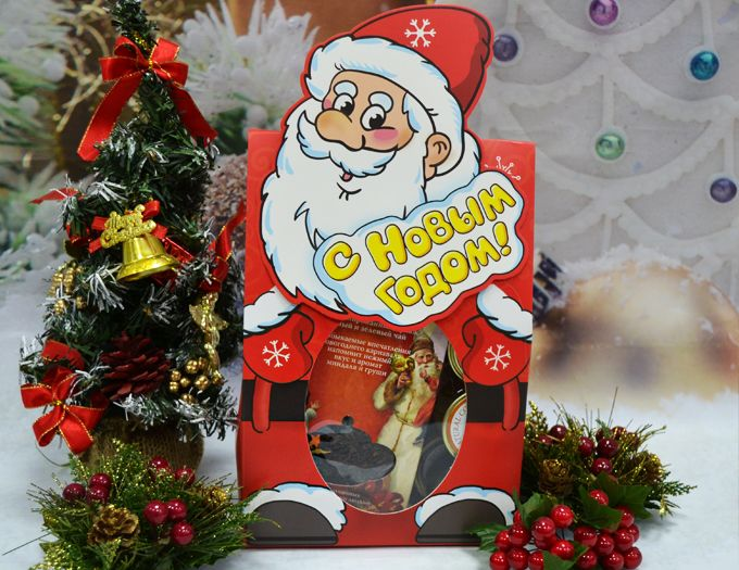 """Набор с чаем и конфитюром """"Дед мороз"""" - подарочный набор"""