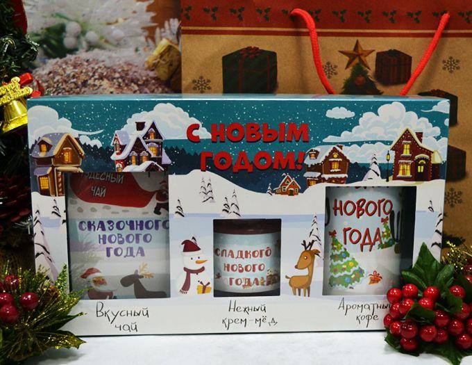 """Новогодний подарок  """"С Новым Годом!"""" из чая, кофе и меда."""