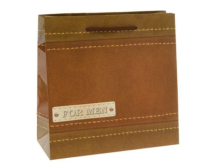 Пакет подарочный Мужской 23х10х22,5 см.