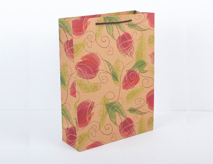 """Пакет """"Тюльпаны"""" 23,5 х 8,5 х 31,5 см"""