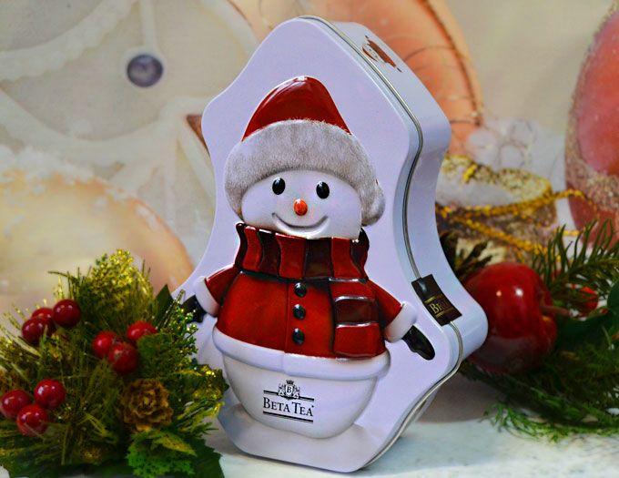 Подарочный чай Beta Tea снеговик малый 30 г.