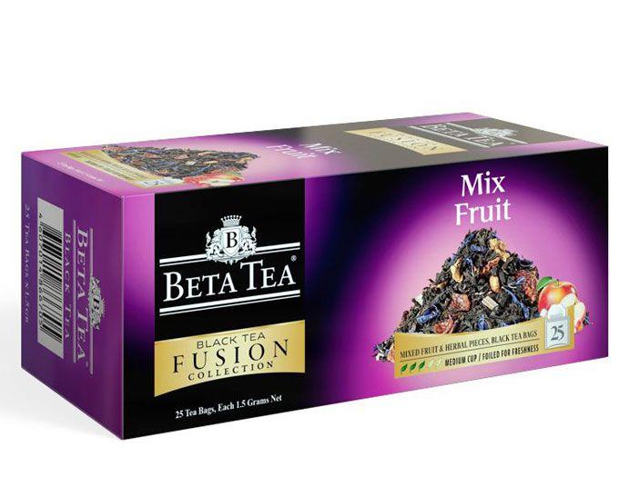 Пакетированный черный чай Фруктовый микс