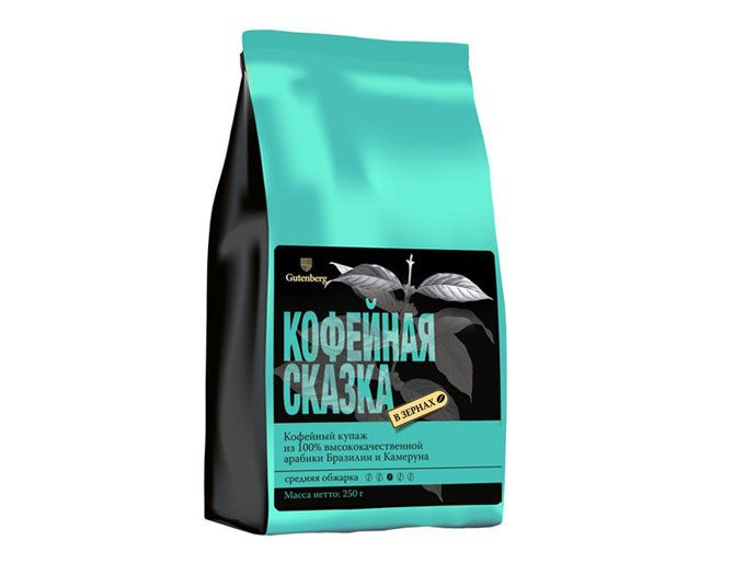 Кофе в зернах Кофейная сказка 250 г.