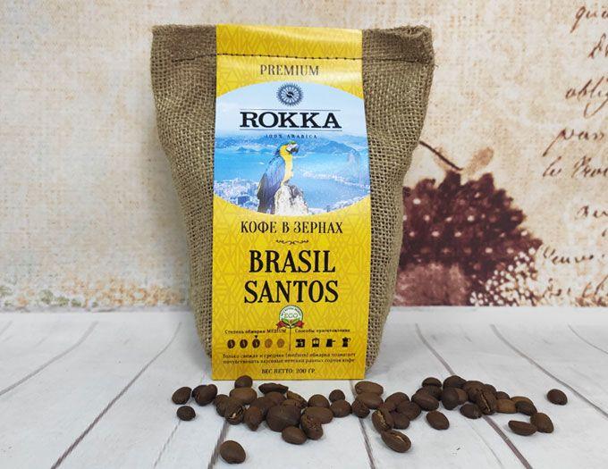 Кофе в зернах Rokka Бразилия Santos 200 г.