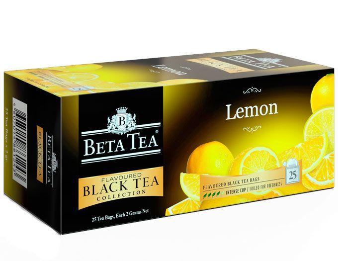 Пакетированный черный чай Лимон