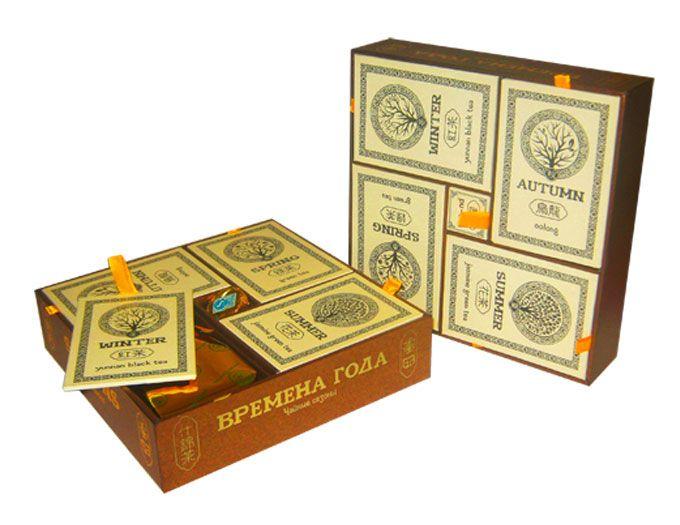 """Подарочный набор элитного чая """"Времена года"""" 335 гр."""