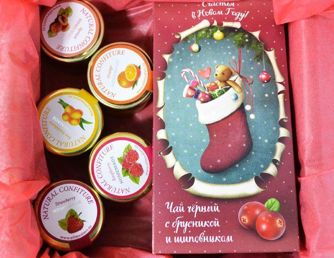 """Подарок на Новый год """"Комплимент"""" с чаем и конфитюрами"""
