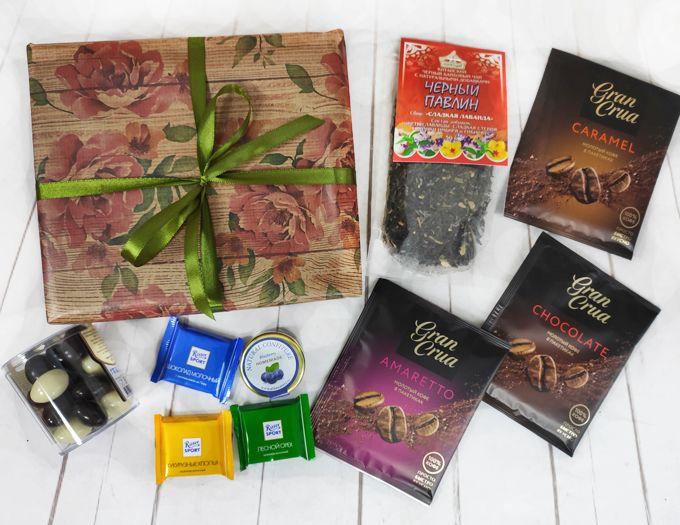 """Подарок с чаем и кофе на 8 марта """"Первоцвет"""""""
